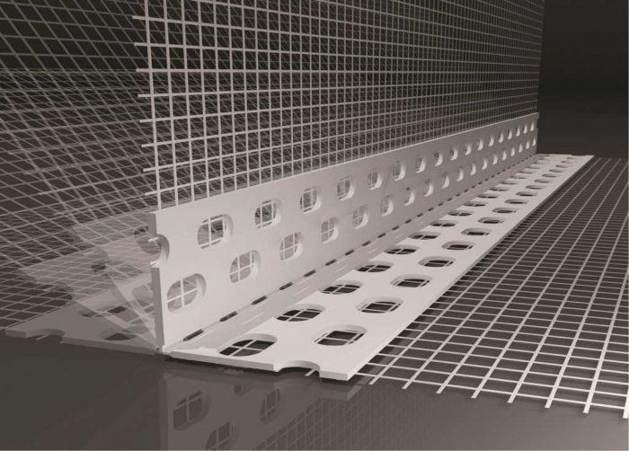 Beyem Perfil PVC ángulo variable con malla