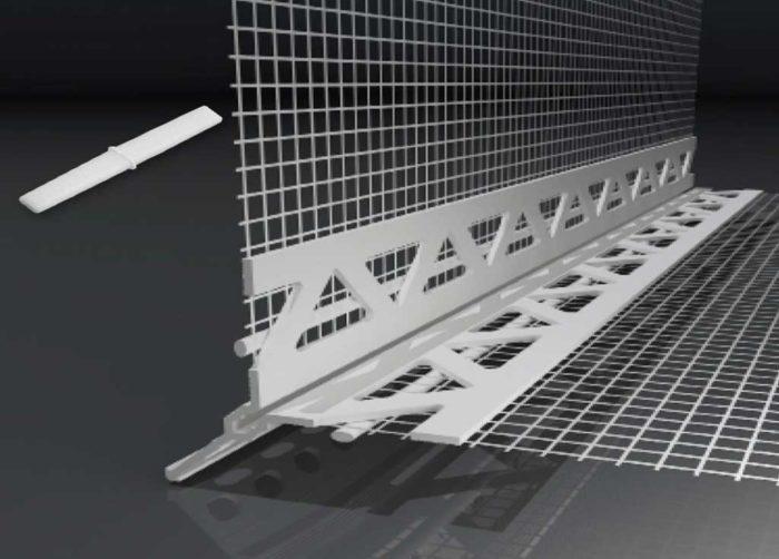 Beyem Perfil cantonera PVC con malla y ala de 3mm