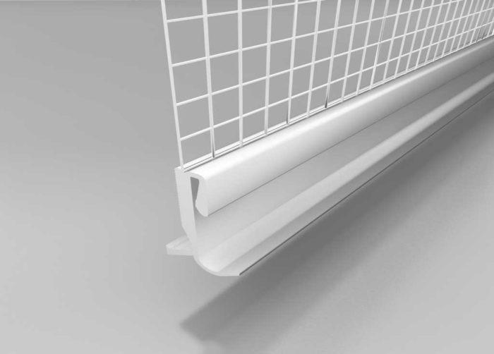 Beyem Perfil clip de arranque PVC con malla