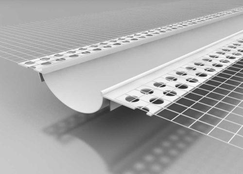 Beyem Perfil junta de dilatación PVC plano con malla